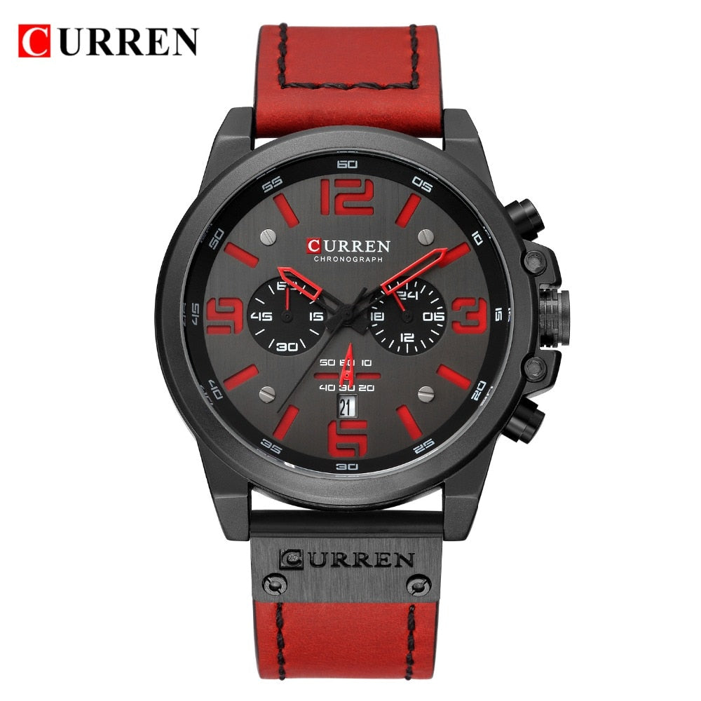 Reloj Hombre  Casual Date Quartz  Watches For Men YSYH  Leather Sports Men's Wrsitwatch Chronograph Male Watch