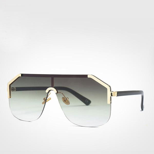 Oversized One Piece Lens Shield Sunglasses