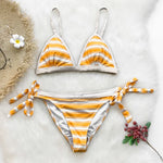Awning Stripe Side Tie Bikini Set