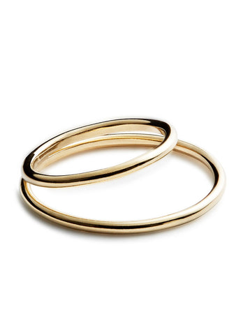 Double Axis Ring Gold
