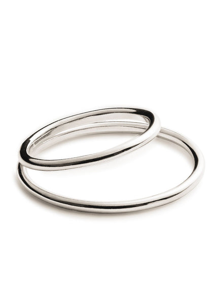 Double Axis Ring Silver