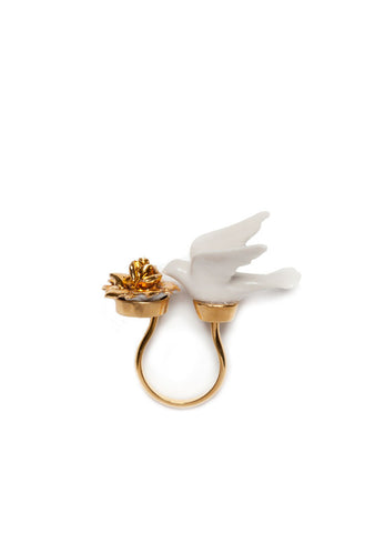 Flower Dove Ring