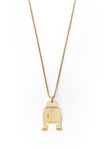 R2D2 Star Wars Kette gold