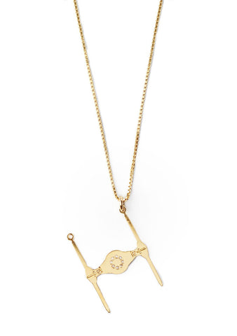 Tie Fighter Star Wars Kette gold