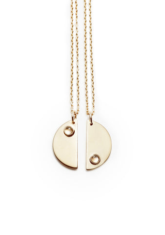 Moon Double Kette Gold