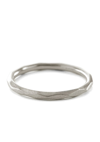 Large Facet Ring Silber