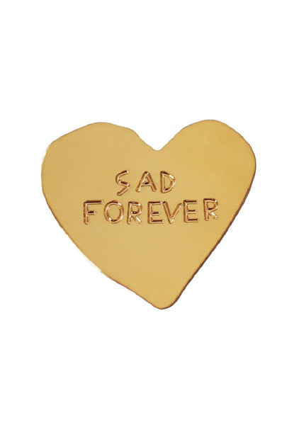 Pin Sad Forever Gold