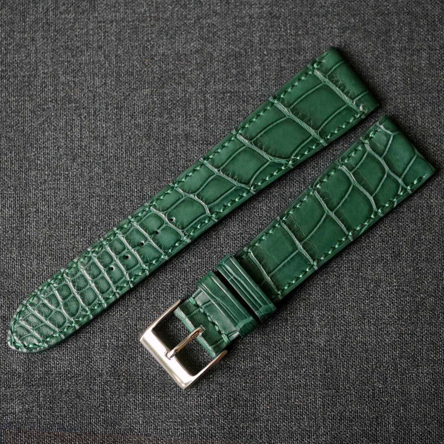 DARK GREEN CUSTOM MADE CROCODILE STRAP