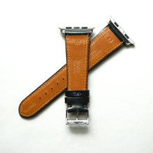 Load image into Gallery viewer, BLACK BRIDLE LEATHER HANDMADE APPLE WATCH STRAP ALL GENERATIONS