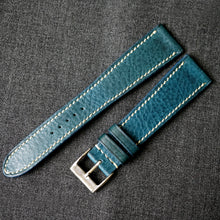 Load image into Gallery viewer, OCEAN BLUE BOX CALF CUSTOM MADE STRAP