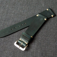 Load image into Gallery viewer, DARK GREEN HORWEEN SHELL CORDOVAN CUSTOM MADE STRAP