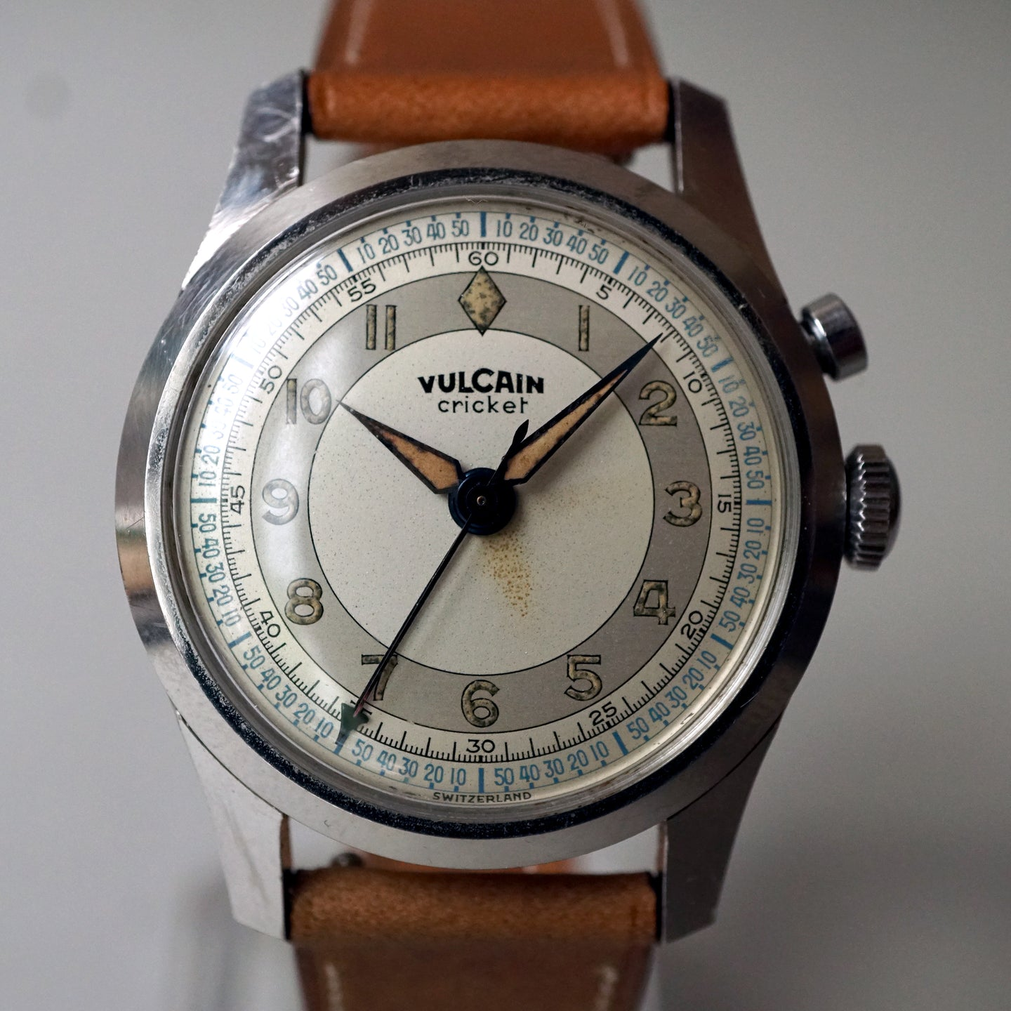 1940s VULCAIN CRICKET ALARM WATCH