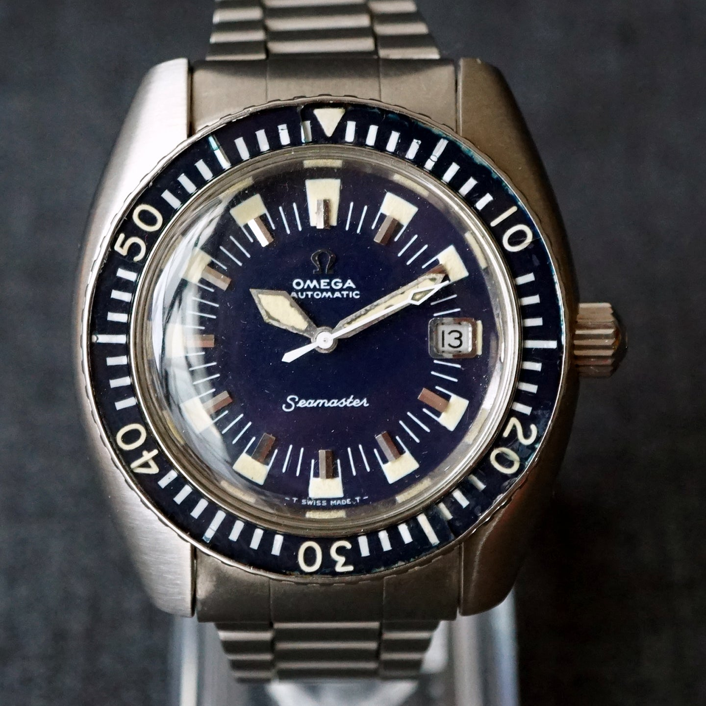 1970 OMEGA SEAMASTER 120 DEEP BLUE 166.073 DIVER WATCH