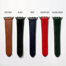 Load image into Gallery viewer, CHESTNUT BRIDLE LEATHER HANDMADE APPLE WATCH STRAP ALL GENERATIONS