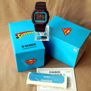 "2007 CASIO G-SHOCK DW-5600VTSUP-1TJR DC COMICS EDITION ""SUPERMAN"""