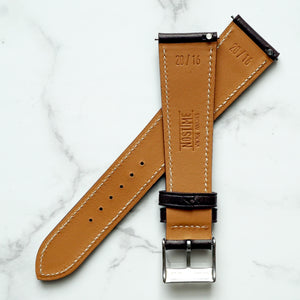 CHOCOLATE BROWN BARENIA SMOOTH CALF STANDARD STRAP