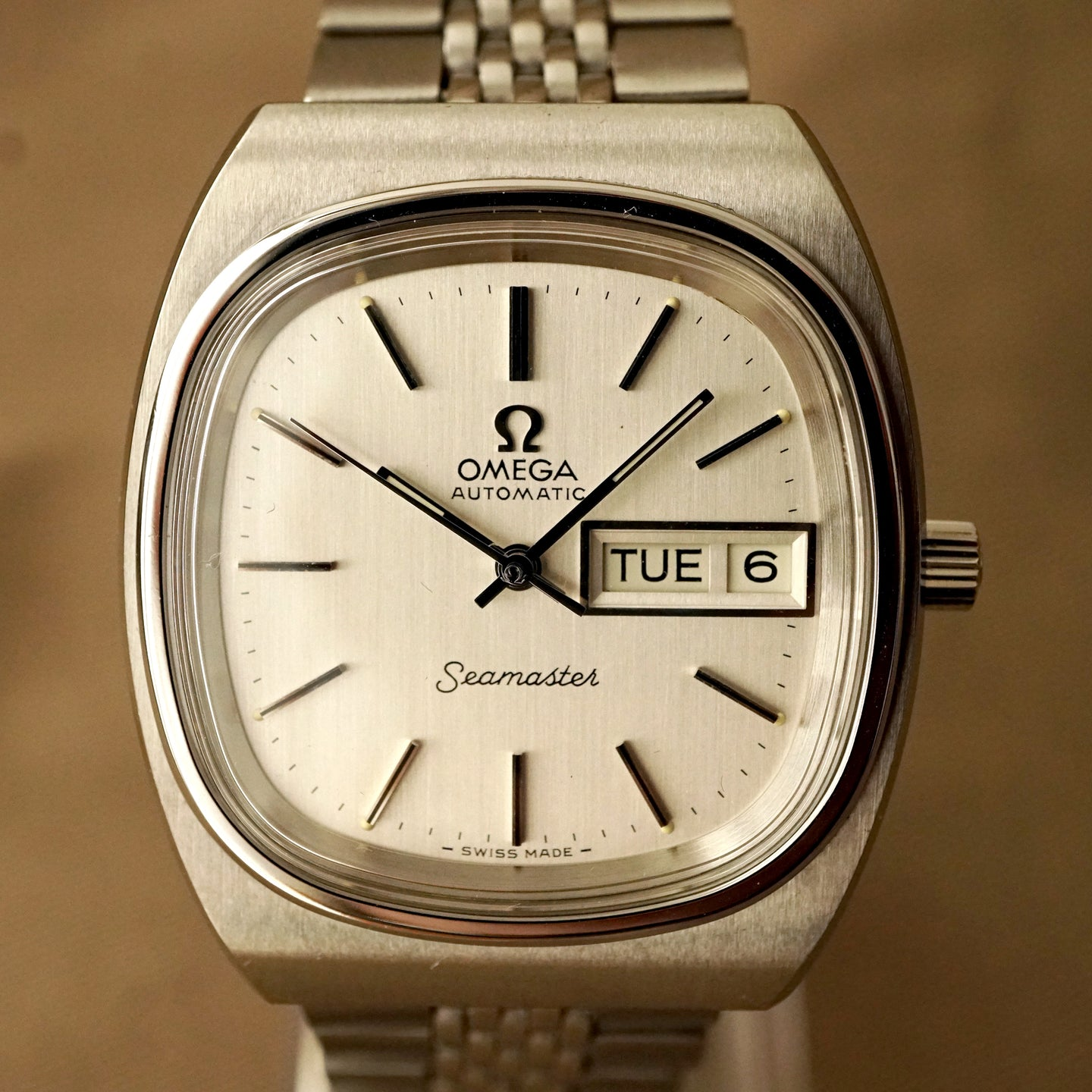 1979 OMEGA SEAMASTER 166.0211.1 TV AUTOMATIC COMPLETE SERVICED NOS