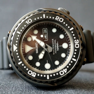 "2015 SEIKO MARINEMASTER ""DARTH TUNA"" 1000M SBBN013 / 7C46-0AA0 DIVERS WATCH"