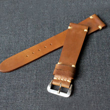 Load image into Gallery viewer, SADDLE TAN NATURAL HORWEEN SHELL CORDOVAN CUSTOM MADE STRAP