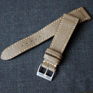 TAUPE GRAY TEXTURED GOAT CUSTOM MADE STRAP