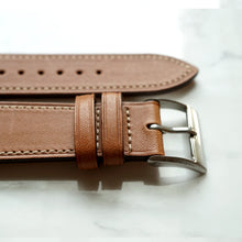 Load image into Gallery viewer, GOLD TAN BARENIA SMOOTH CALF STANDARD STRAP