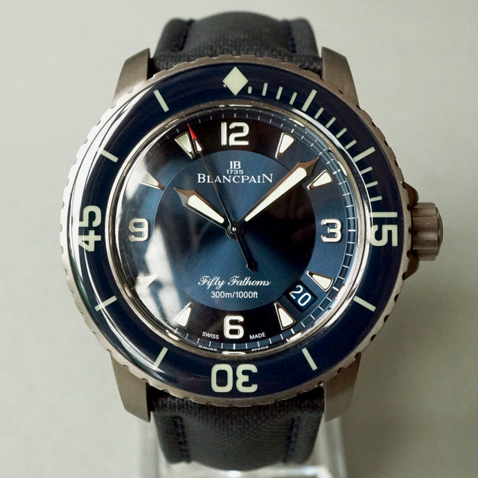 BLANCPAIN FIFTY FATHOMS AUTOMATIQUE TITANIUM 45MM BLUE 5015 12B40 O52A