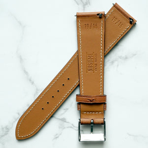 GOLD TAN BARENIA SMOOTH CALF STANDARD STRAP