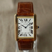 Load image into Gallery viewer, 2013 CARTIER TANK SOLO MEN'S LARGE 18K YELLOW GOLD / STEEL BACK