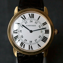 Load image into Gallery viewer, 2017 CARTIER RONDE SOLO MEN'S 36MM 18K YELLOW GOLD / STEEL BACK