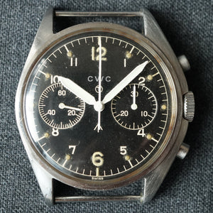 1974 CWC UK ROYAL AIRFORCE PILOT'S ISSUED MILITARY CHRONOGRAPH WATCH
