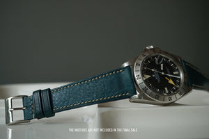 OCEAN BLUE BOX CALF CUSTOM MADE STRAP