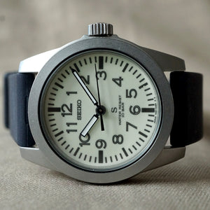1995 SEIKO REF.7N21-0010 SUS LUM DIAL FIELD WATCH