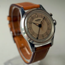 Load image into Gallery viewer, 1940s VULCAIN CRICKET ALARM WATCH