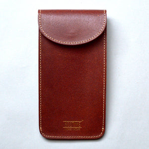 ENGLAND BRIDLE LEATHER SINGLE WATCH POUCH - CHESTNUT