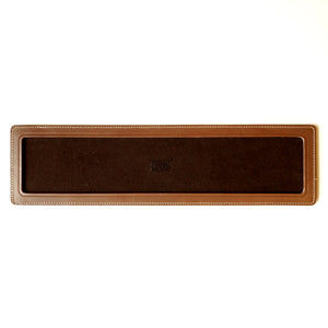 DARK BROWN LEATHER SINGLE WATCH TRAY