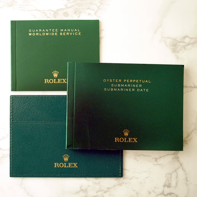 ROLEX SUBMARINER OWNERS BOOKLET SET FOR 2015 TO 2017