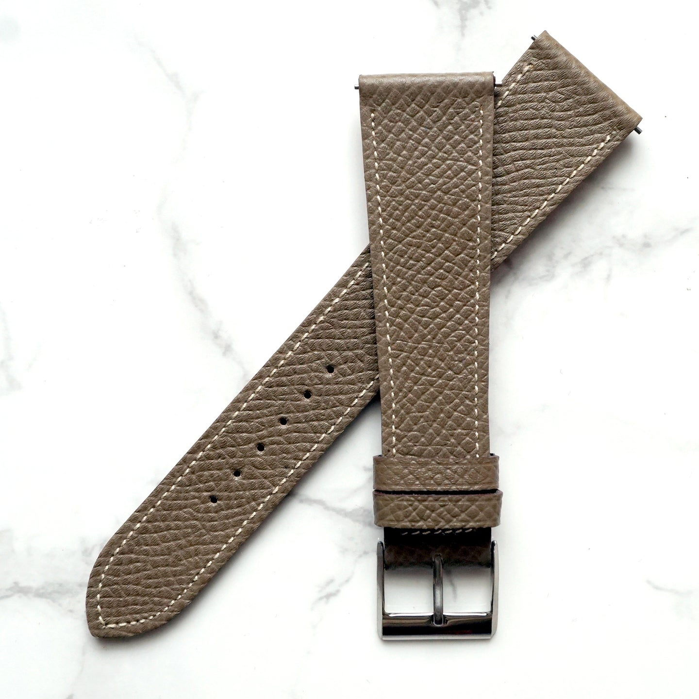 TAUPE BROWN GRAINED CALF STANDARD STRAP