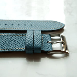 FRENCH BLUEJEAN GRAINED CALF STANDARD STRAP