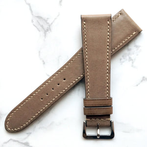 TAUPE GRAY BABY SMOOTH CALF CUSTOM MADE STRAP