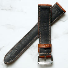 Load image into Gallery viewer, COGNAC TAN CUSTOM MADE CROCODILE STRAP