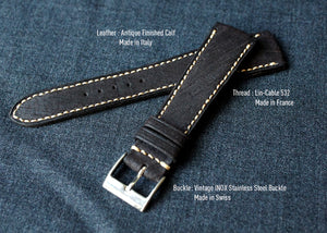 DISTRESSED DARK BROWN CUSTOM MADE STRAP