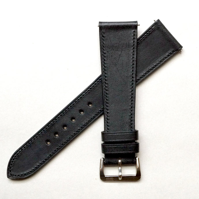 BLACK BARENIA SMOOTH CALF STANDARD STRAP