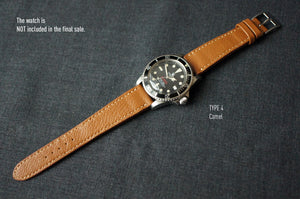 CAMEL TAN TEXTURED GOAT CUSTOM MADE STRAP