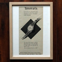 Load image into Gallery viewer, 1950s PATEK PHILIPPE TIFFANY REF.2526 VINTAGE AD PRINT WOOD FRAME