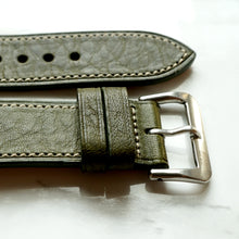 Load image into Gallery viewer, OLIVE GREEN BOX CALF STANDARD STRAP