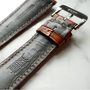 COGNAC TAN CUSTOM MADE CROCODILE STRAP