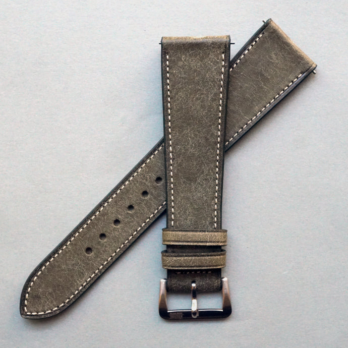 ASH GREEN DISTRESSED CALF STANDARD STRAP