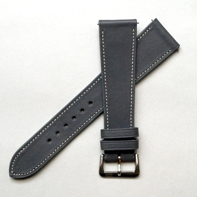 ELEPHANT GRAY BARENIA SMOOTH CALF STANDARD STRAP