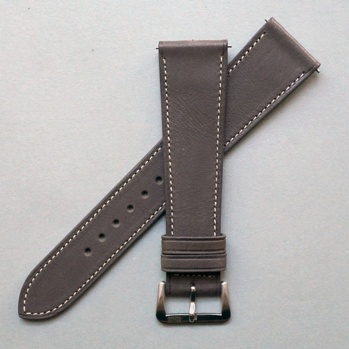 DARK TAUPE BARENIA SMOOTH CALF STANDARD STRAP