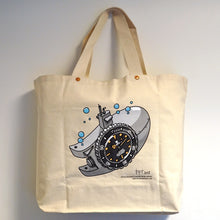 Load image into Gallery viewer, NOSTIME x WATCHES AND PENCILS CANVAS TOTE BAG